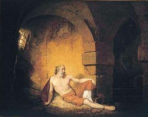 The Captive (painting) - Image: Joseph Wright The Captive 1775 7