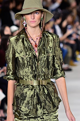 Joséphine Le Tutour - Joséphine Le Tutour walking the runway for Ralph Lauren in 2014.