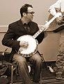 Josh Fox - Filmmaker - playing banjo 2011-11-05.jpg
