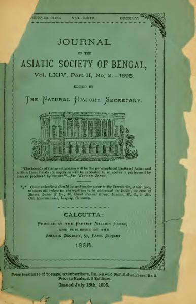 https://upload.wikimedia.org/wikipedia/commons/thumb/8/80/Journal_of_the_Asiatic_Society_of_Bengal_Vol_64%2C_Part_2%2C_No._2.djvu/page1-387px-Journal_of_the_Asiatic_Society_of_Bengal_Vol_64%2C_Part_2%2C_No._2.djvu.jpg