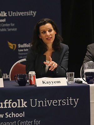 Juliette Kayyem - Kayyem at the Rappaport Center for Law and Public Service at Suffolk University Law School, March 2014