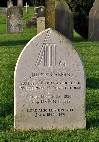 Julius Caesar (cricketer) - Caesar's grave in Nightingale cemetery Godalming