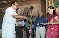 K.V. Thomas lighting the lamp at a seminar on the occasion of World Standards Day.jpg