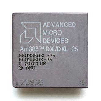 Am386 - Image: KL AMD 386DX