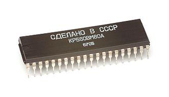 Soviet integrated circuit designation - Image: KL USSR KP580BM80A i 8080 clone