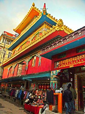 Dharamshala - Kalachakra Temple in the main street of Mcleod ganj