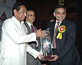 Kamal Nath presenting the EPCES Export Award to Shri Jatin R. Mehta, Chairman & Managing Director, at the presentation of 'EPCES Awards for Export Excellence 2006-07, in New Delhi on February 03, 2009.jpg