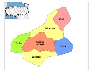 Eskipazar - Image: Karabük districts