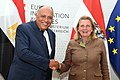 Karin Kneissl welcomes her Egyptian counterpart Sameh Shoukry - 2018 (43243406401).jpg