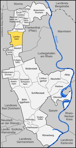 Lambsheim - Image: Karte Lambsheim