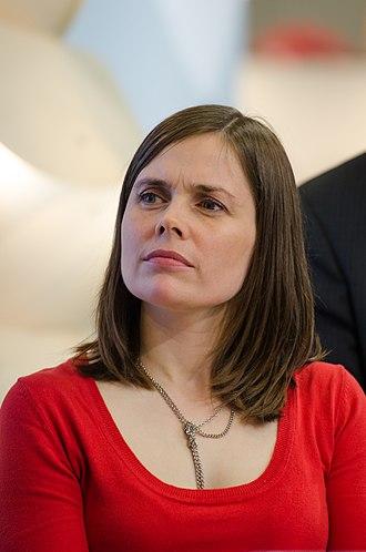 Next Icelandic parliamentary election - Image: Katrín Jakobsdóttir at Göteborg Book Fair 2012 03