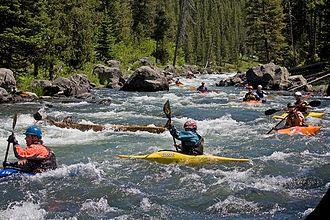 Henrys Fork (Snake River tributary) - Kayaking the Coffee Pot Rapids of the Henrys Fork
