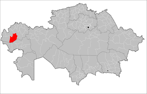 Location of Zhanakala District in Kazakhstan