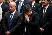 Kelly and Homeland Security Secretary Janet Napolitano at Tucson memorial service.