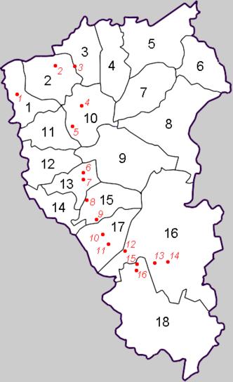 Муниципальные районы: