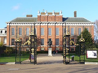Kensington Palace royal residence set in Kensington Gardens, London, England