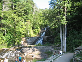 Kent, Connecticut - Kent Falls, before its 2005-2006 renovation