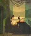 Kersting - Junge Frau, beim Schein einer Lampe nähend.jpg
