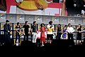 Kevin Feige, Chloe Zhao, Richard Madden, Kumail Nanjiani, Lauren Ridloff, Brian Tyree Henry, Salma Hayek, Lia McHugh, Don Lee & Angelina Jolie (48462866427).jpg