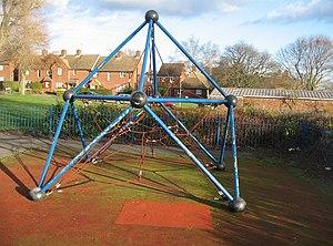 English: Kids Climbing Frame Always a worry fo...