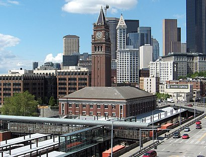 how to get to king street station in seattle by bus or. Black Bedroom Furniture Sets. Home Design Ideas