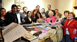 Estela de Carlotto - Carlotto and other recovered grandmothers and grandchildren gathered in 2011 with President Cristina Kirchner in the house of Miguel Ángel Estrella in Paris