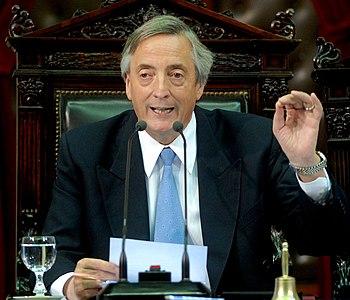 Former Argentinian President Néstor Kirchner m...