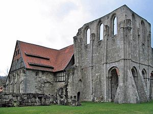 Walkenried Abbey - Former chapter house and abbey church ruins