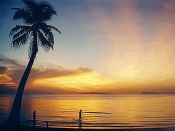 Lipa Noi Beach on Ko Samui, Thailand, shortly ...