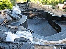 Koi pond wikipedia for Design of settlement ponds