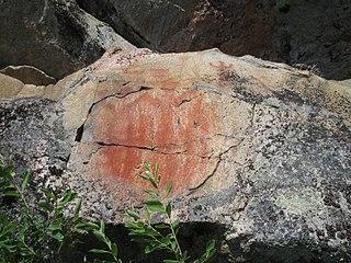 Kolmiköytisienvuoren kalliomaalaus
