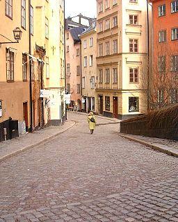 Köpmanbrinken street in Gamla stan, Stockholm, Sweden