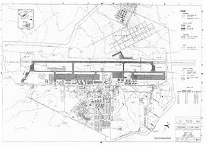 Korat Royal Thai Air Force Base - 1973 map of Korat Royal Thai Air Force Base (click on map for high resolution)