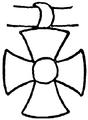 Kors, Solsymbol på assyrisk stenskulptur 2, Nordisk familjebok.png