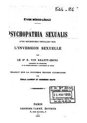 Richard von Krafft-Ebing: Psychopathia Sexualis : avec recherches spéciales sur l'inversion sexuelle
