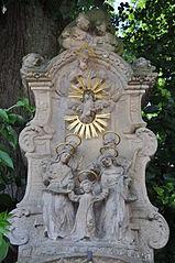 Reliéf se scénou Dvanáctiletý Ježíš v chrámu