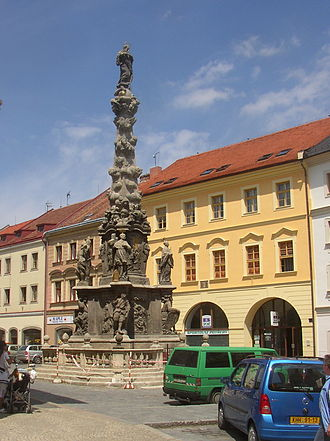 Marian and Holy Trinity columns - The plague Column of the Virgin Mary Immaculate in Kutná Hora, the Czech Republic, built between 1713 and 1715.