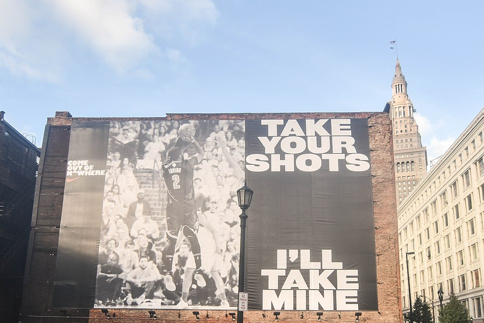 Kyrie Irving billboard in Cleveland, Ohio (2016)