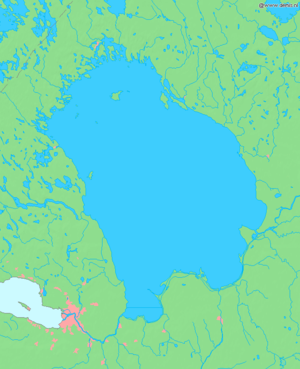 Lake Ladoga - Map of Lake Ladoga