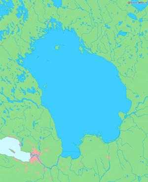 Lake Ladoga - Map of Lake Ladoga