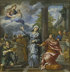 The Tiburtine Sibyl announces the advent of Christ to Augustus