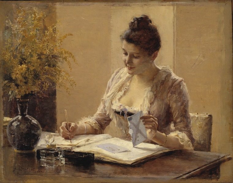 Lady Writing a Letter (Albert Edelfelt) - Nationalmuseum - 19713