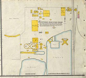 Sanborn Maps - 1911 Sanborn map showing Lagoon Amusement Park in Farmington, Utah