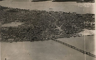 Timeline of Lagos - Aerial photograph of Lagos in 1929