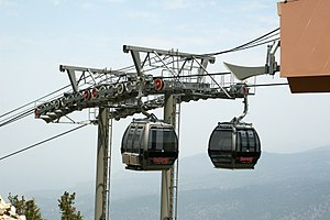 English: The Gondola ride at Lake Tahoe, South...