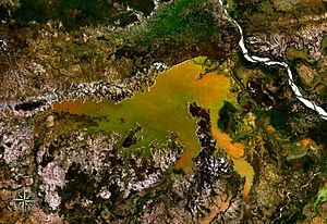 Lake Kinkony - from space