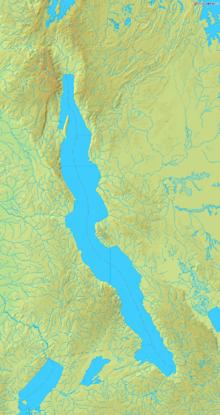 Mapa jazera tanganika