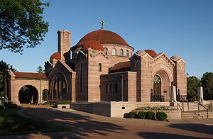 Lakewood Cemetery - The Byzantine-styled chapel at Lakewood Cemetery is listed on the National Register of Historic Places