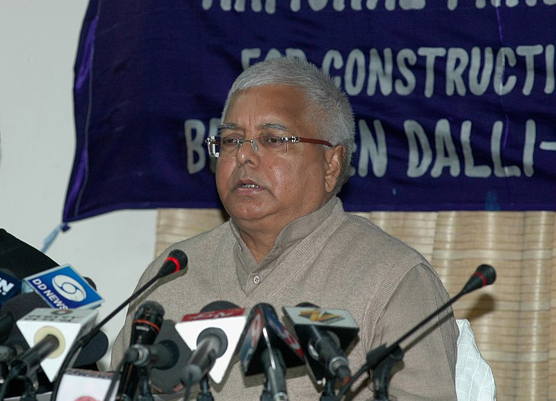 File:Lalu Prasad addressing at the signing ceremony of an MoU among Ministry of Railways, Government of Chhattisgarh, Steel Authority of India Limited (SAIL) and National Mineral Development Corporation (NMDC), in New Delhi.jpg