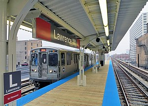 Lawrence station (CTA) - Image: Lawrencectaredline